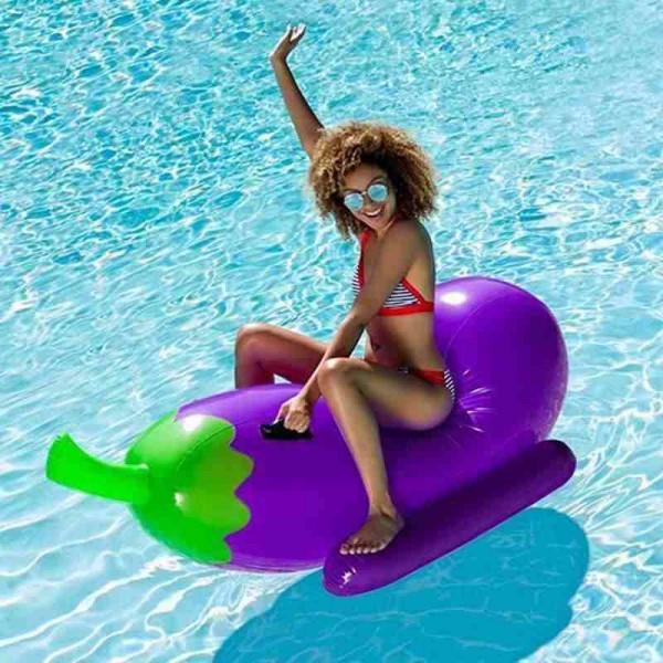 Aufblasbar Aubergine Schwimmbad Schweben Fahren auf Luft Tafel Schwimmend Draussen Strand