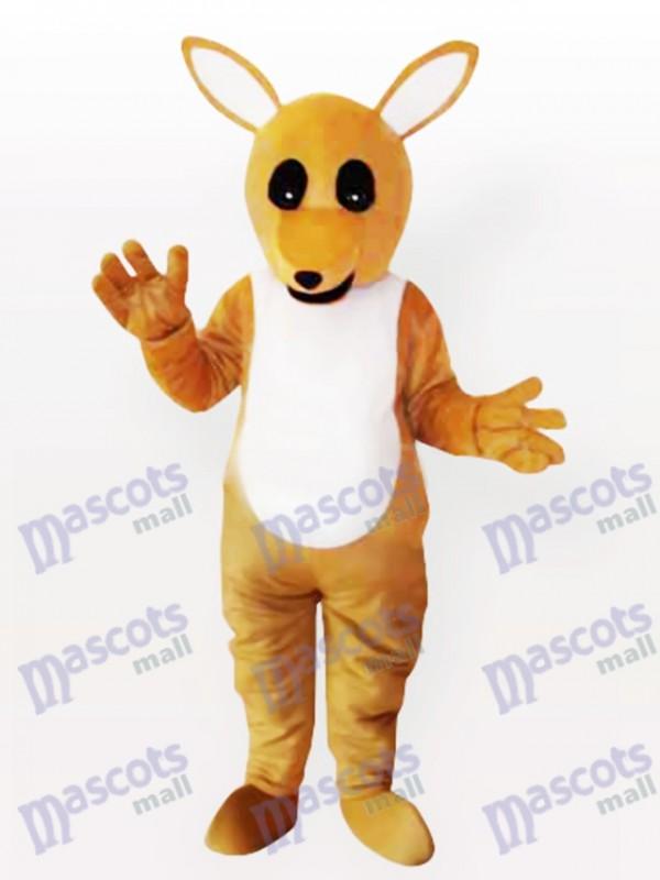 Gelbes Känguru Maskottchen Kostüm für Erwachsene