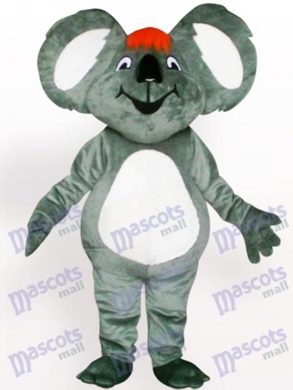 Koala mit Rote Haare Maskottchen Kostüm