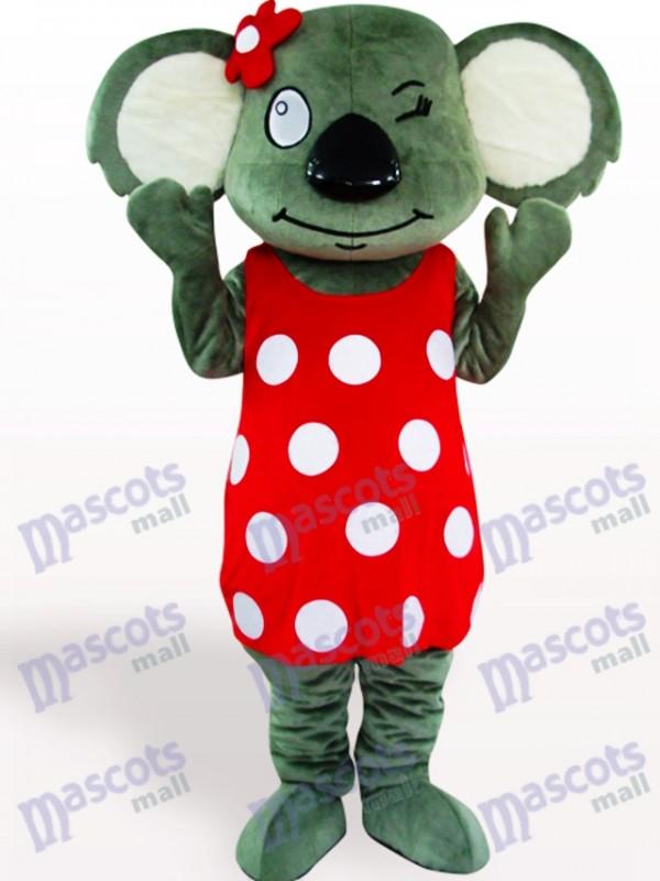 Roter Rock Koala Maskottchen Kostüm für Erwachsene