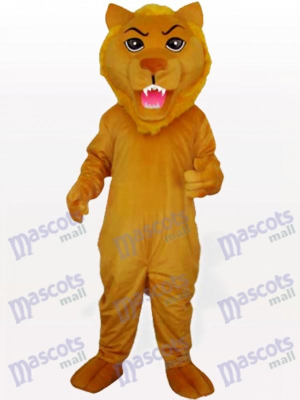 Gelbes Löwen Tier Maskottchen Kostüm