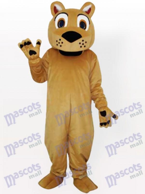 Piepen Gesicht Löwe mit keinem Bart Maskottchen Kostüm