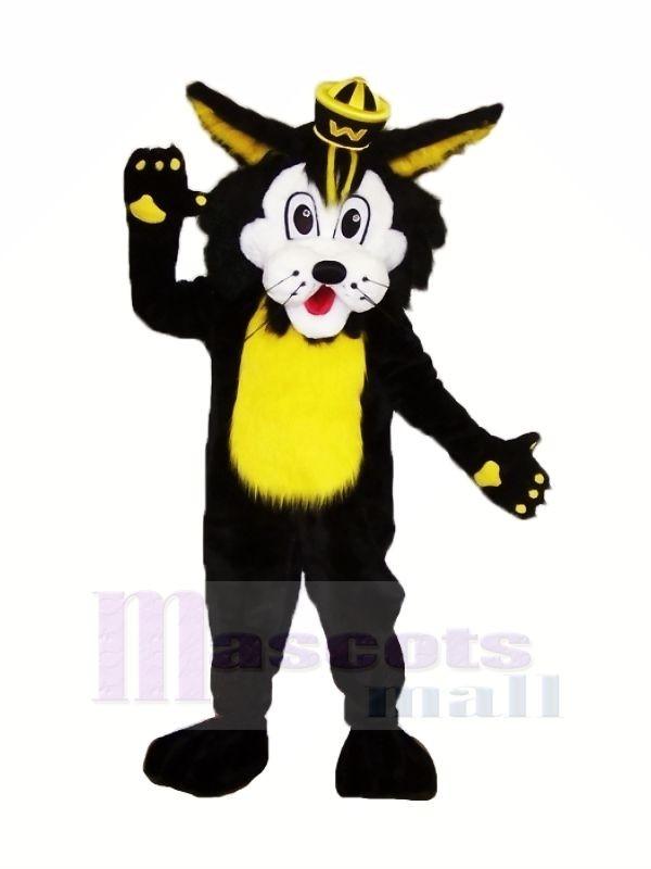 Schwarz Wilde Katze Maskottchen Kostüme Karikatur