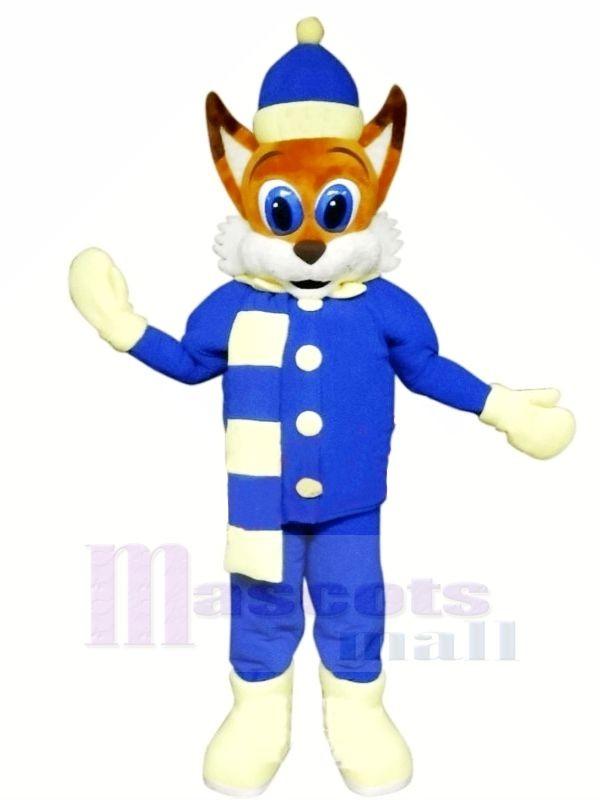 Braun Fuchs mit Blau Passen Maskottchen Kostüme Karikatur