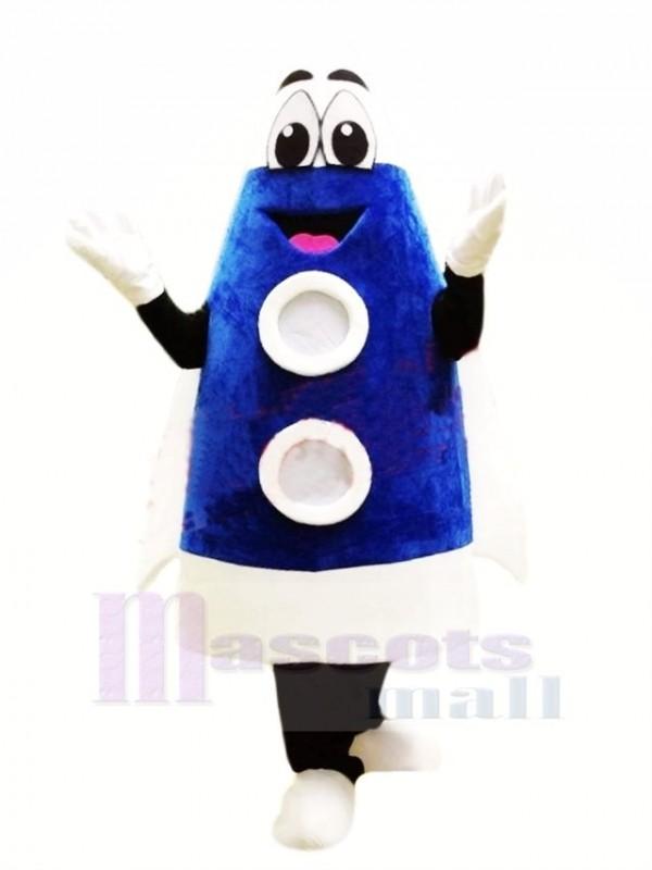 Süß Blau Rakete Maskottchen Kostüm Karikatur