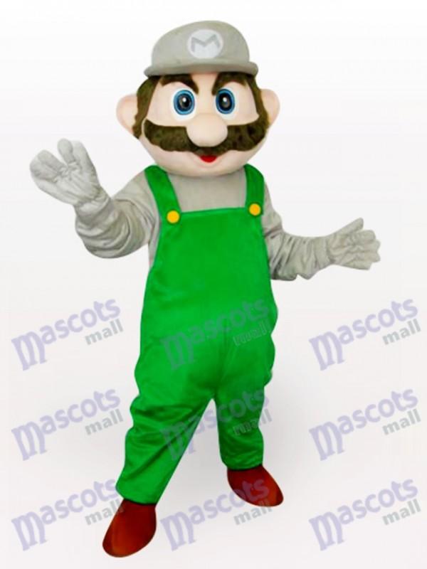 Grüner Super Mario Bros Anime Maskottchen Kostüm für Erwachsene