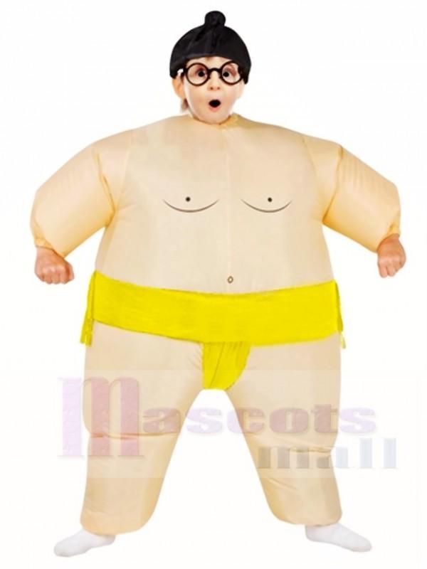Gelb japanisch Fett Mann Sumo Aufblasbar Halloween Weihnachten Kostüme für Kinder