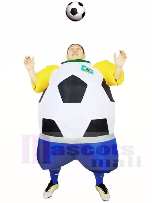 Weltmeisterschaft Brasilien Fussball Aufblasbare Halloween Weihnachts Kostume Fur Erwachsene