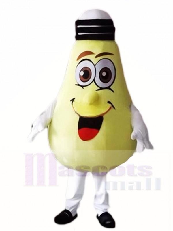 Große gelbe Lampe Glühbirne Maskottchen Kostüme