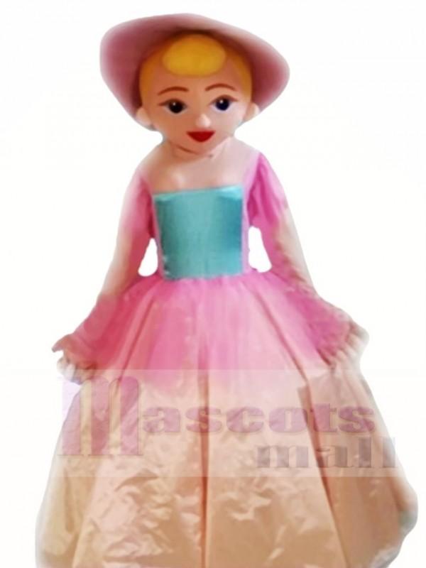 Prinzessin im Rosa Kleid Maskottchen Kostüme Menschen