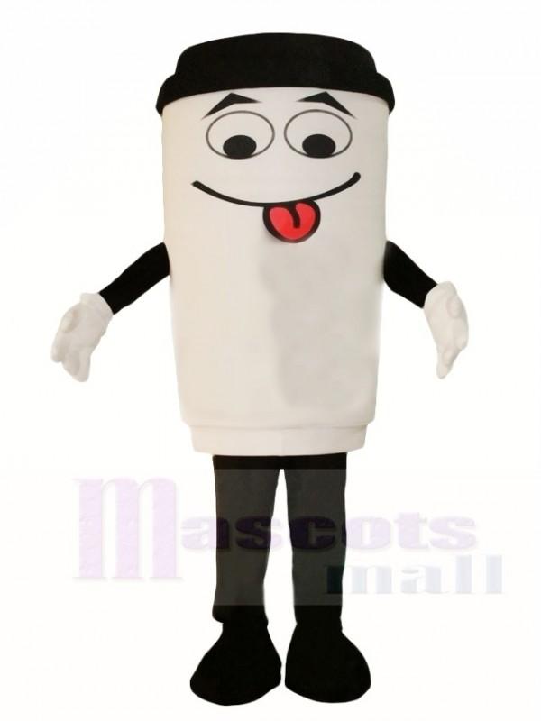 Weiß Kaffee Tasse Flasche Maskottchen Kostüme Getränk