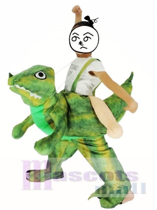 Kinder Huckepack tragen mich auf Velociraptor Dinosaurier fahren Drachen Maskottchen Kostüme