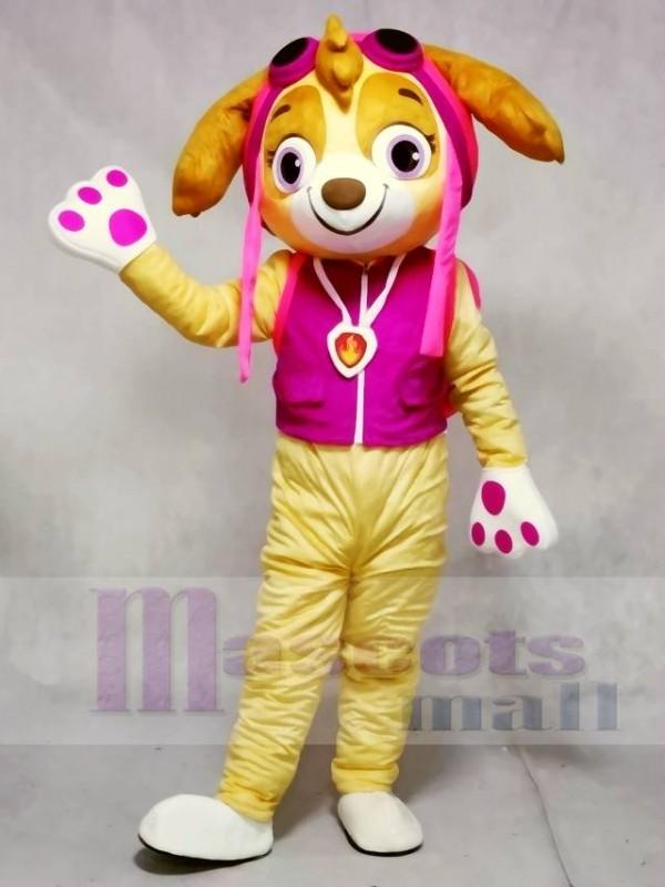 Paw Patrol Skye Beige Gesicht Rosa Hund Maskottchen Kostüme Tier