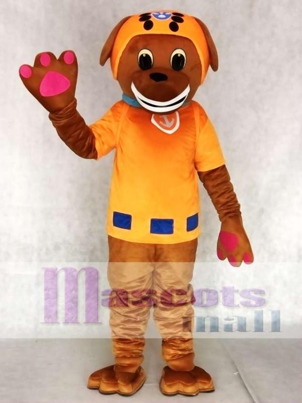 Orange Anzug Labrador Pup Wasserretter Pfote Paw Patrol Zuma Hund Maskottchen Kostüm