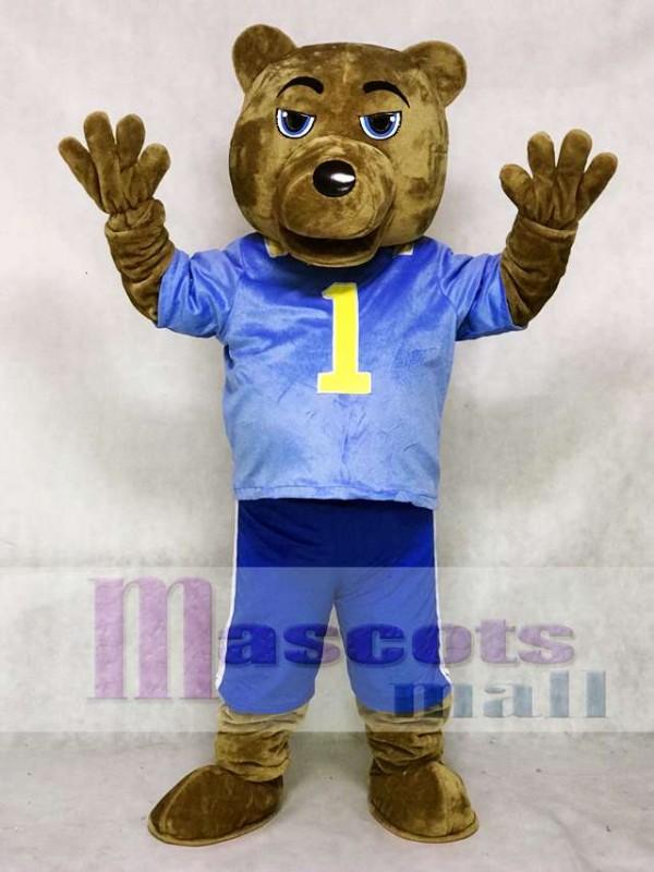 UCLA Dunkelbraun Bär Maskottchen Kostüm mit Weste und Shorts