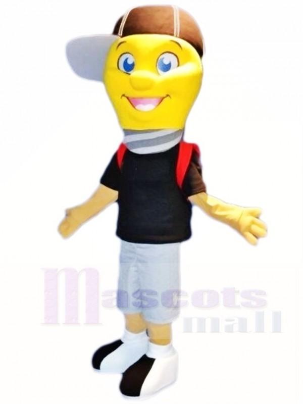 Lampe Glühbirne Junge Mit Cap Maskottchen Kostüme