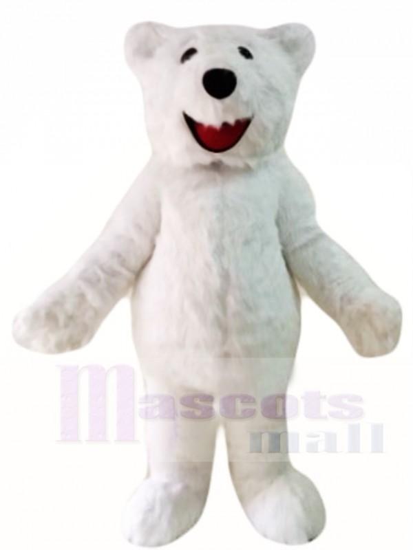 Behaart Polar Bär Maskottchen Kostüme Tier