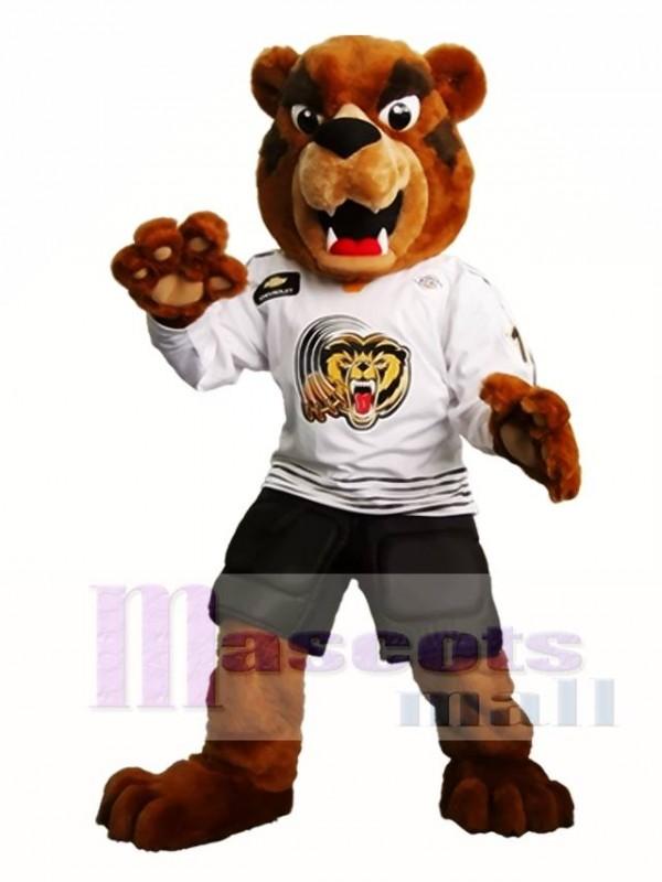 Heftig Braun Bär Maskottchen Kostüm Grizzlies Maskottchen Kostüme