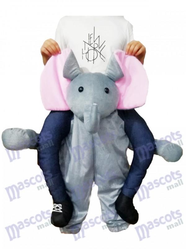 Piggyback Elefant tragen mich Fahrt graues Elefant Maskottchen Kostüm
