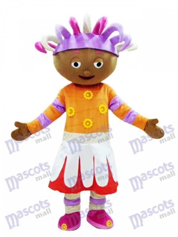 Upsy Gänseblümchen-Maskottchen-Kostüm im Nachtgarten Maskottchen Kostüm