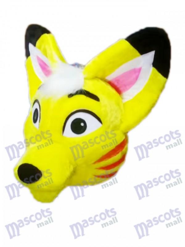 Gelber Husky Hund Fuchs Maskottchen kostüm Karikatur