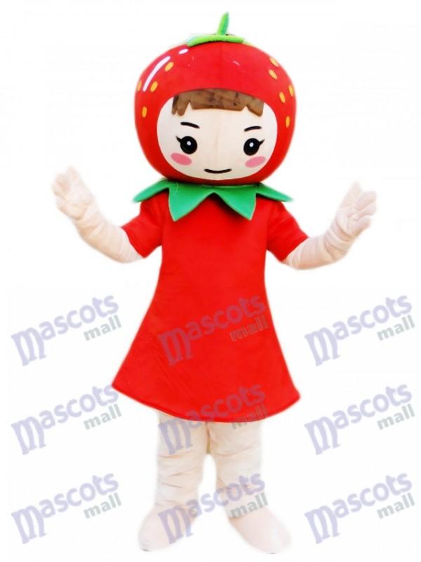 Erdbeer mädchen Maskottchen Kostüm Frucht