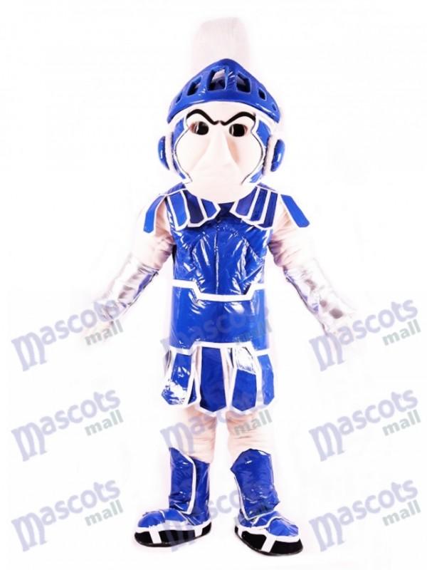 Blau Spartan Trojan Ritter Sparty Maskottchen Kostüm