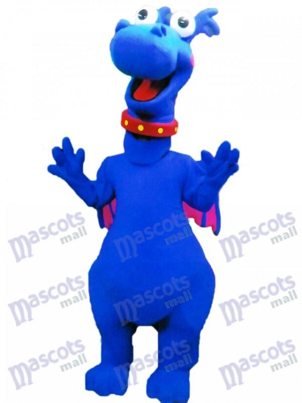 Netter blauer Drache stickiger Maskottchen Kostüm Tier