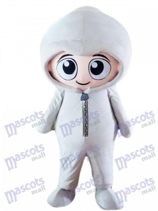Grauer Hoodie Boy Baby Maskottchen Kostüm Menschen