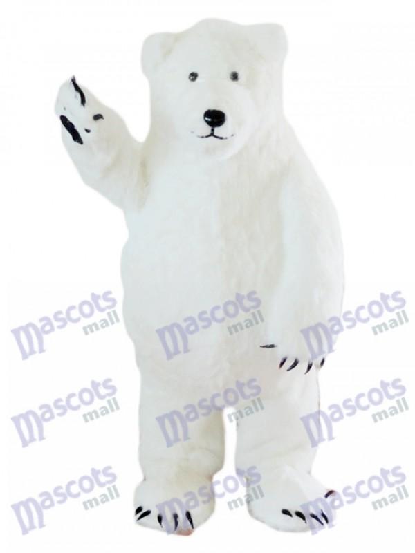 Weißes Eisbär-Maskottchen-Kostüm-Tier