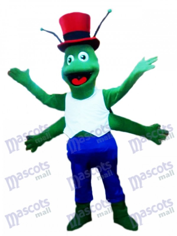 Grüne Heuschrecken Maskottchen Kostüm Insekt