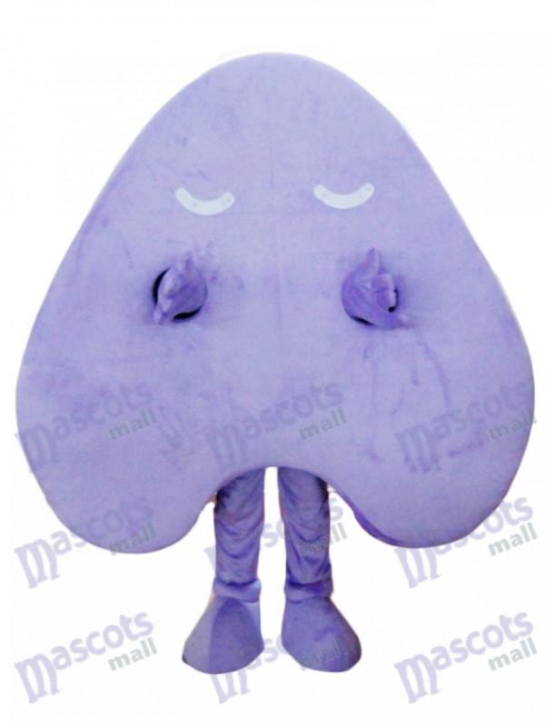 Glücklicher purpurroter Buchstabe ein Alphabet Maskottchen Kostüm