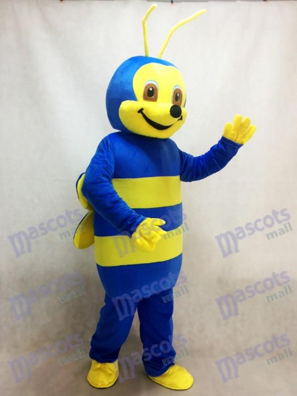 Reizendes blaues Bienen-Maskottchen-Kostüm