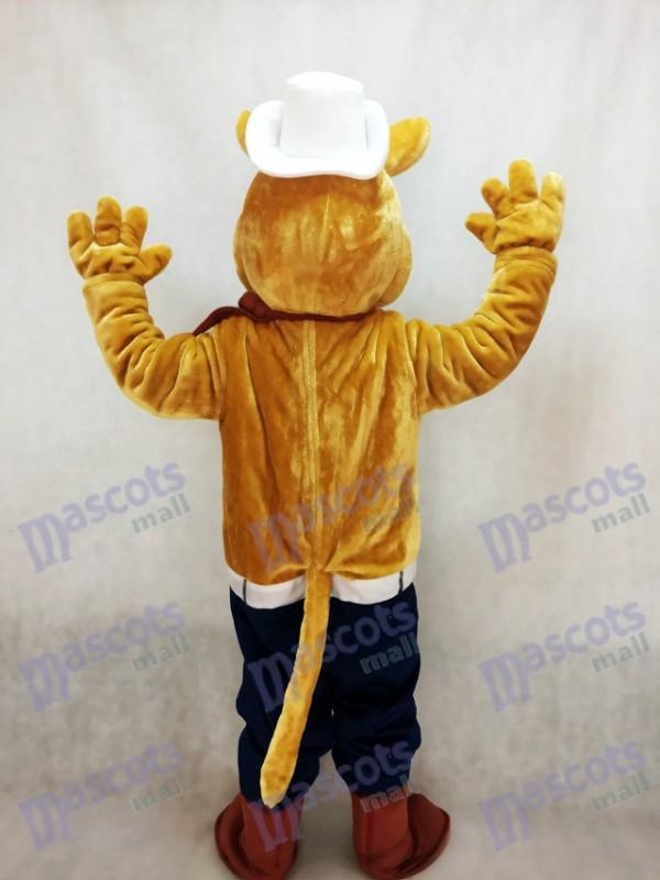 Cowboy Kojote Wolf Maskottchen Kostüm