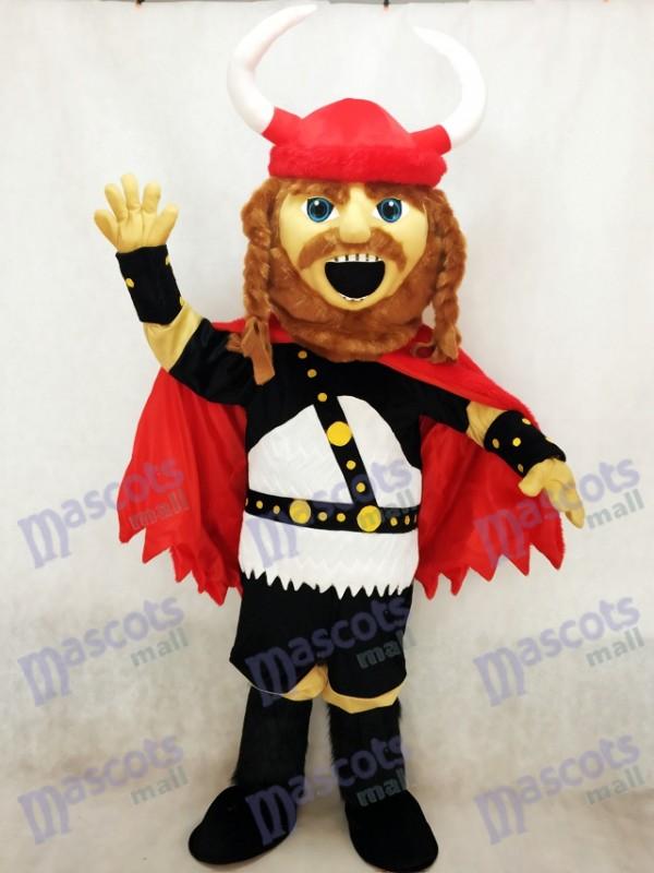 Red Pirate Viking Maskottchen Kostüm Menschen