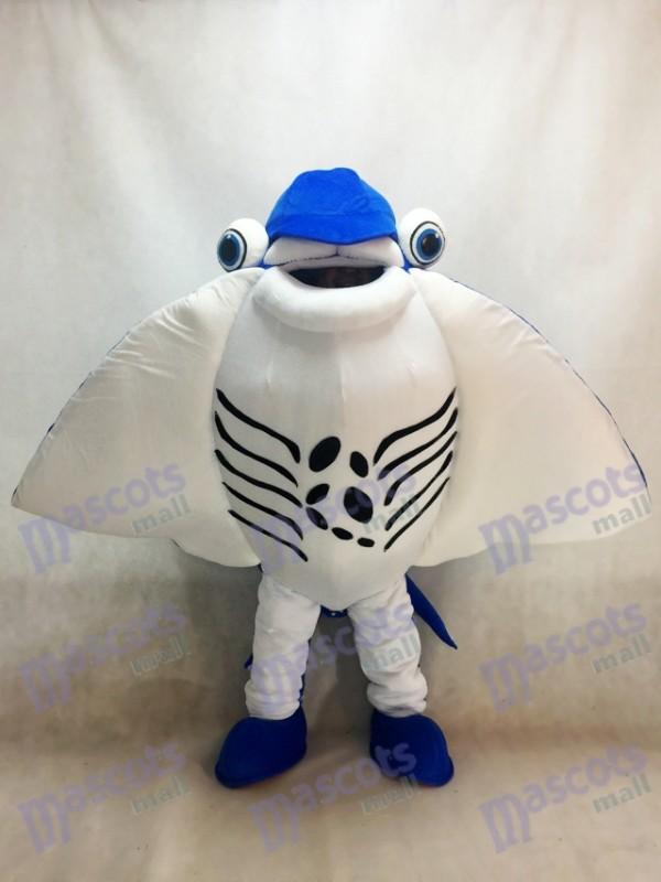 Mantarochen Teufel Strahlen Maskottchen Kostüm Ozean Aquarium