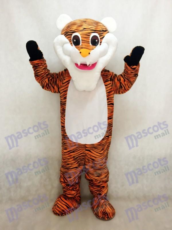 Weißer Bart Tiger Maskottchen Kostüm