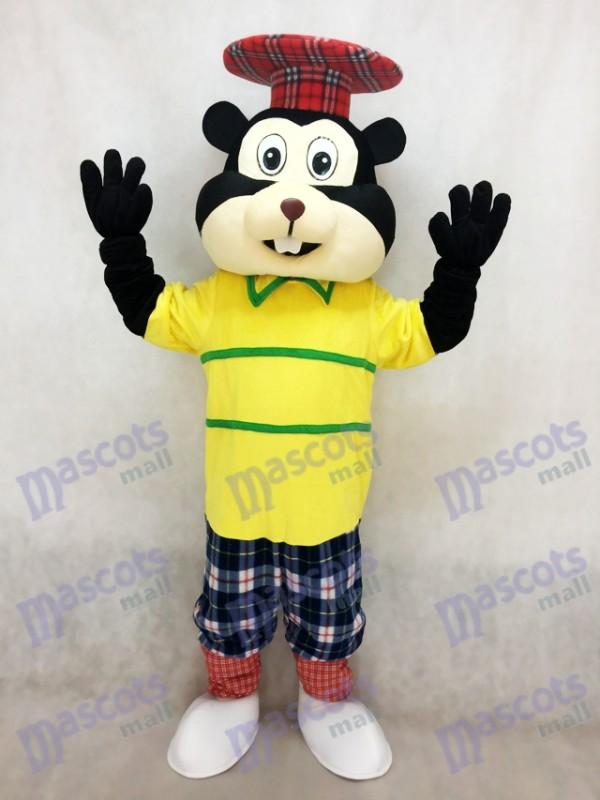 Neuer Golf Gopher im gelben Hemd Maskottchen Kostüm