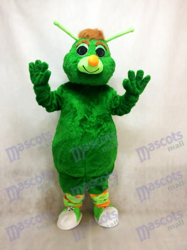 Lustiges grünes Heuschrecken Maskottchen Kostüm