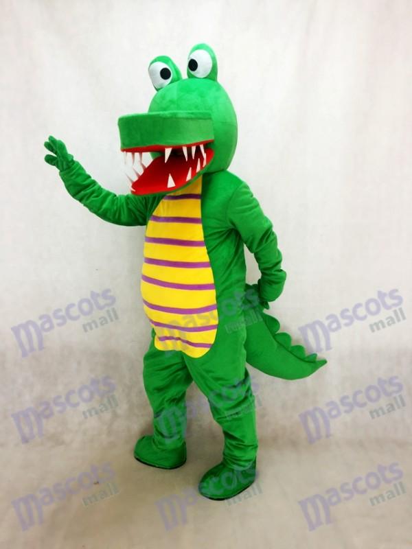Cartoon grün Krokodil Maskottchen Kostüm Tier