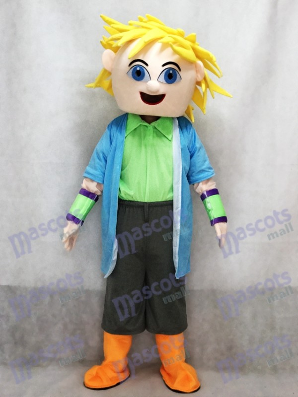 Dj Big Boy Blonde Haare Mann Maskottchen Kostüm