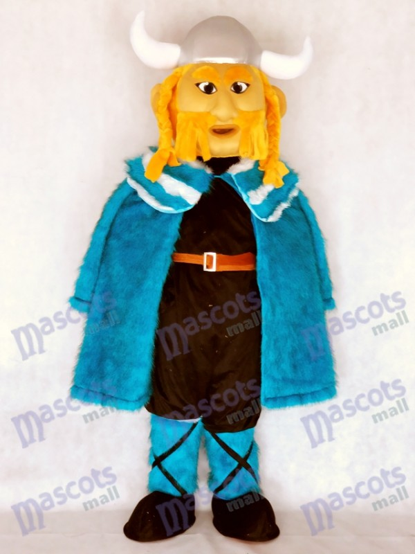 Neues Thor das riesige Wikinger Maskottchen Kostüm mit blauem Umhang