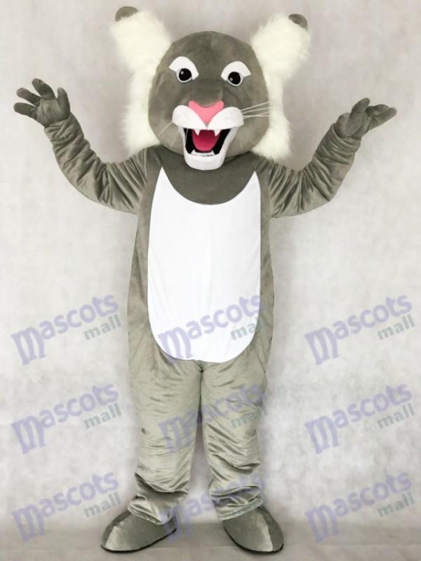 Niedliche graue Wildcat Wildcat Maskottchen Kostüm Tier