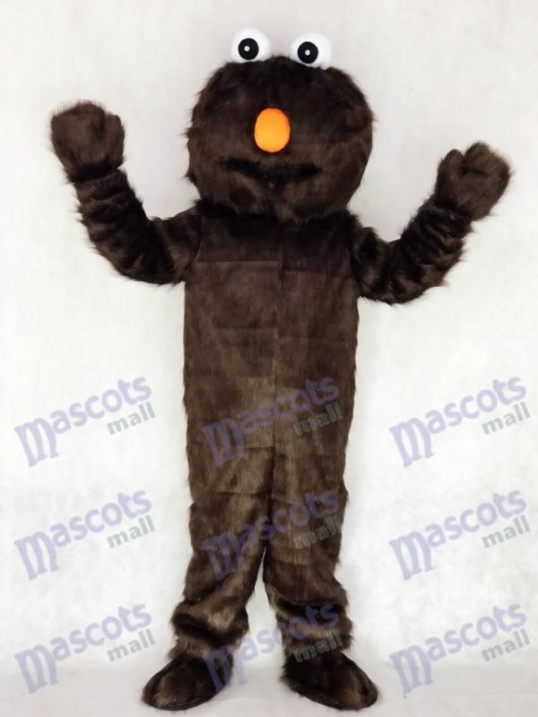 Long Fur Sesamstraße Braun Schokolade Elmo Maskottchen Kostüm Cartoon Halloween Weihnachten