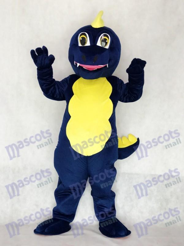 Erwachsener Marine Blau Drache Maskottchen Kostüm Tier