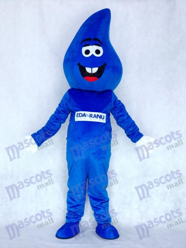 Wassertropfen Blau RainDrop Maskottchen Kostüm