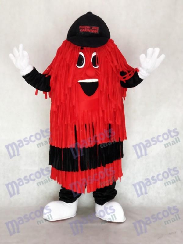 Schwarz & Rot Autowäsche Ziellinie Maskottchen Kostüm Förderung