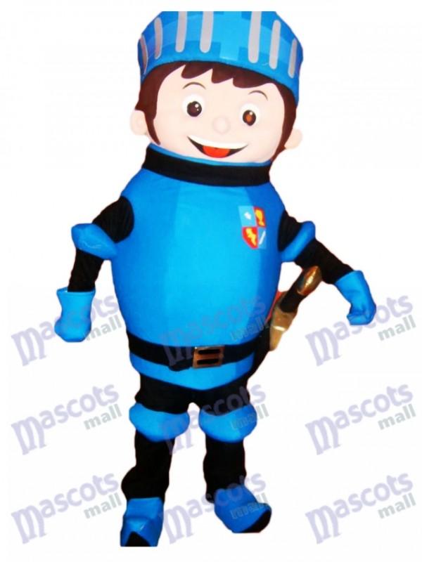Blue Mike der Ritter Maskottchen Kostüm Menschen