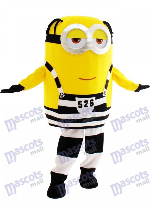 Gelächter Minion im Gefängnis Despicable Me Maskottchen Kostüm Cartoon