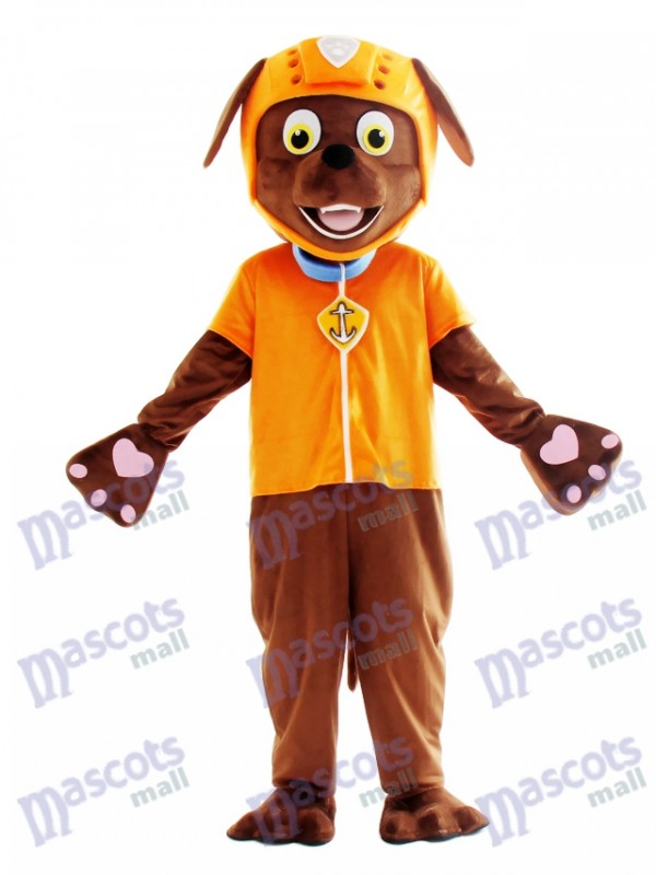 Zuma Paw Patrol Chocolate Labrador Dog Mascot Costume Cartoon Anime